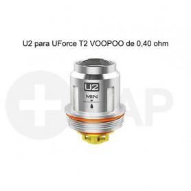 Resistencias U2 para UForce T2 VOOPOO de 0,40 ohm – Voopoo Coil