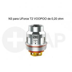 Resistencias N3 para UForce T2 VOOPOO de 0,20 ohm – Voopoo Coil