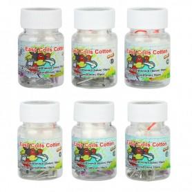 Easy Coils Cotton-10 RESISTENCIAS N80 +10 TIRAS DE ALGODÓN- Lvs Vape